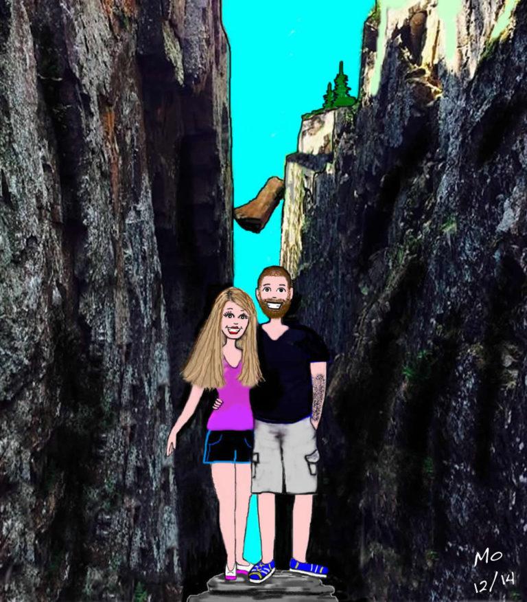 Mo's Custom Cartoon - Hillary and Brett