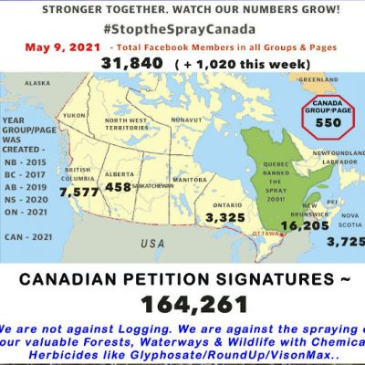 Stop the Spray Canada Map